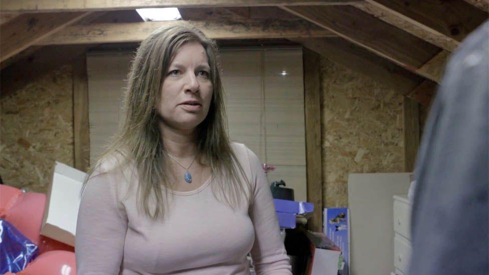 Julie Keith in her loft