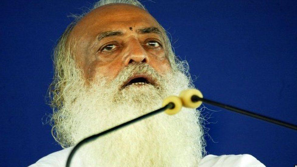 Asaram Bapu at one of his sermons