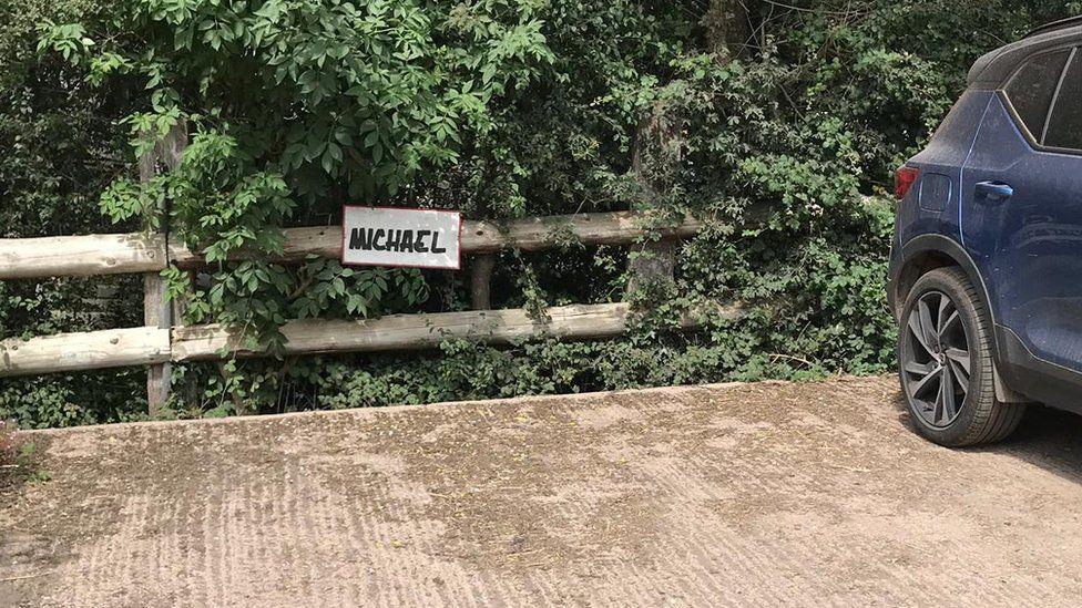 Michael Eavis's parking space