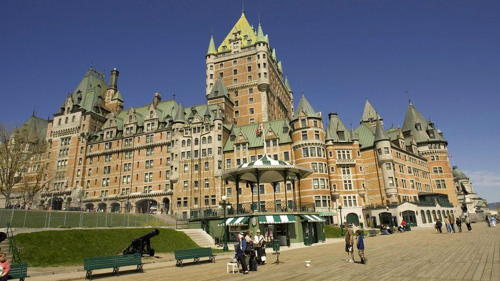View of the Chateau Frontenac in Quebec City, Canada.