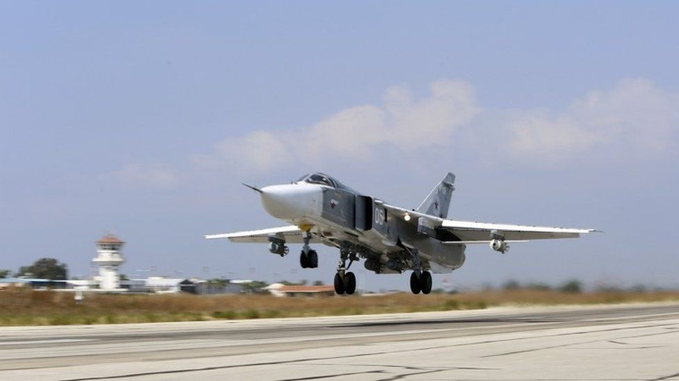 Russian jet takes off from Syrian air base