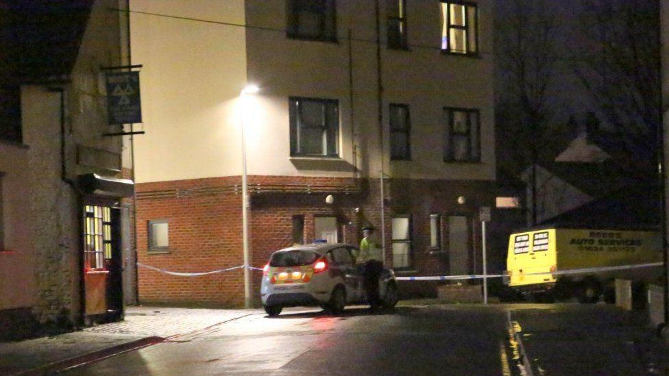 Murder scene in Fox Street, Gillingham
