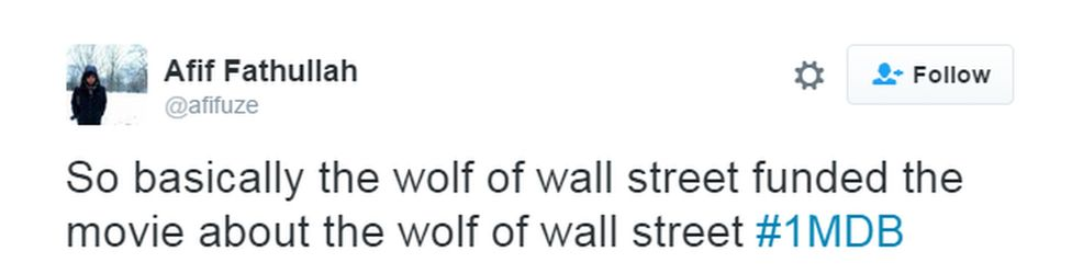 """""""So basically the wolf of wall street funded the movie about the wolf of wall street"""""""