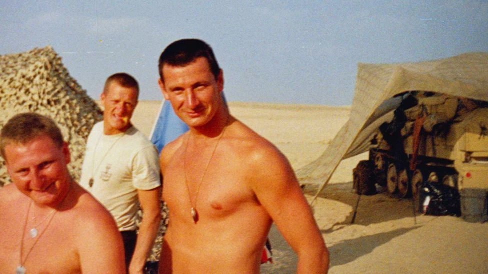 Keith serving in the Gulf War