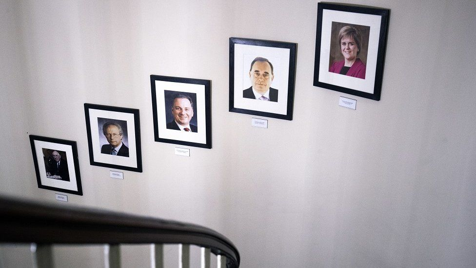 Portraits of Scotland's first ministers