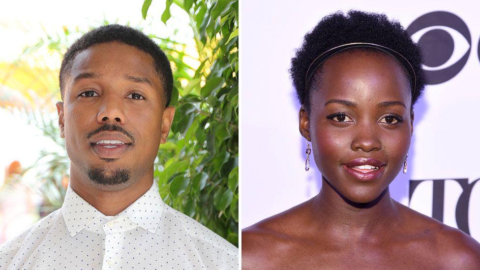 Michael B Jordan and Lupita Nyong'o
