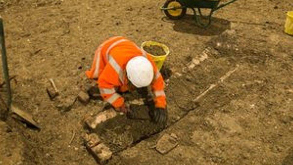 St Mary's Church archaeological dig near Stoke Mandeville