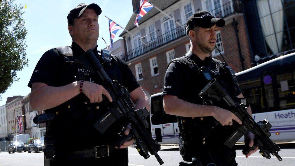 Armed police in Windsor