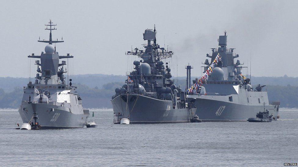 Russian warships at Baltiysk, 26 Jul 15