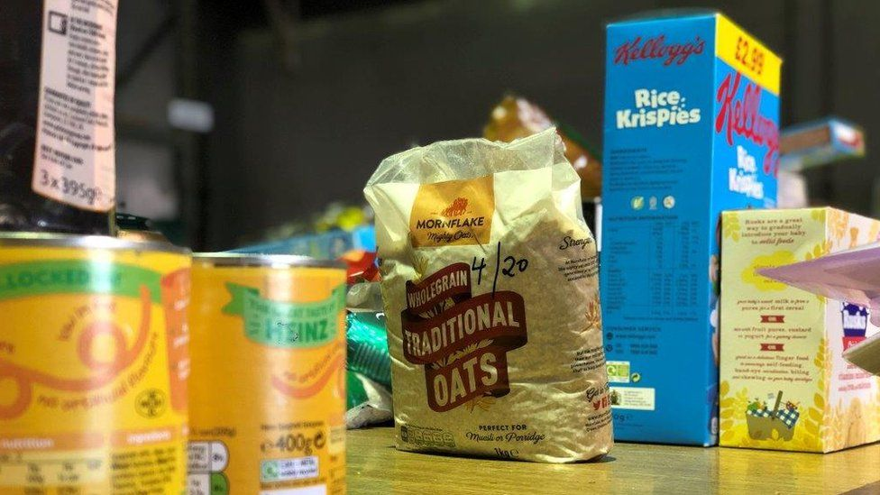 Food packets in food bank
