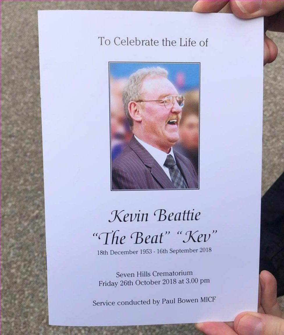 Kevin Beattie order of service