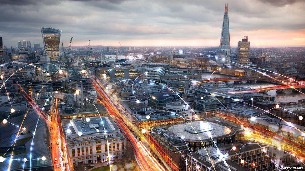 Data going across London