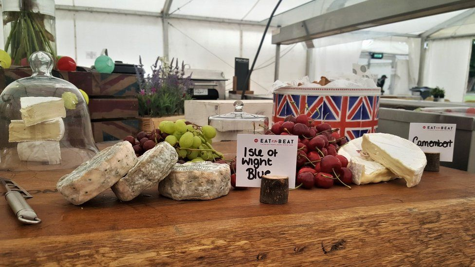 Cheese board at festival