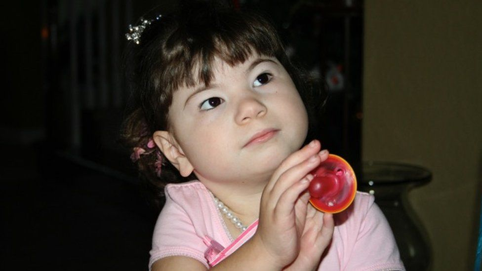 Laney Frohock at four years old