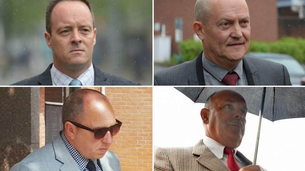Clockwise from top left: Matthew Lucas, Lee Walls, Malcolm Reeves and Matthew Loosemore