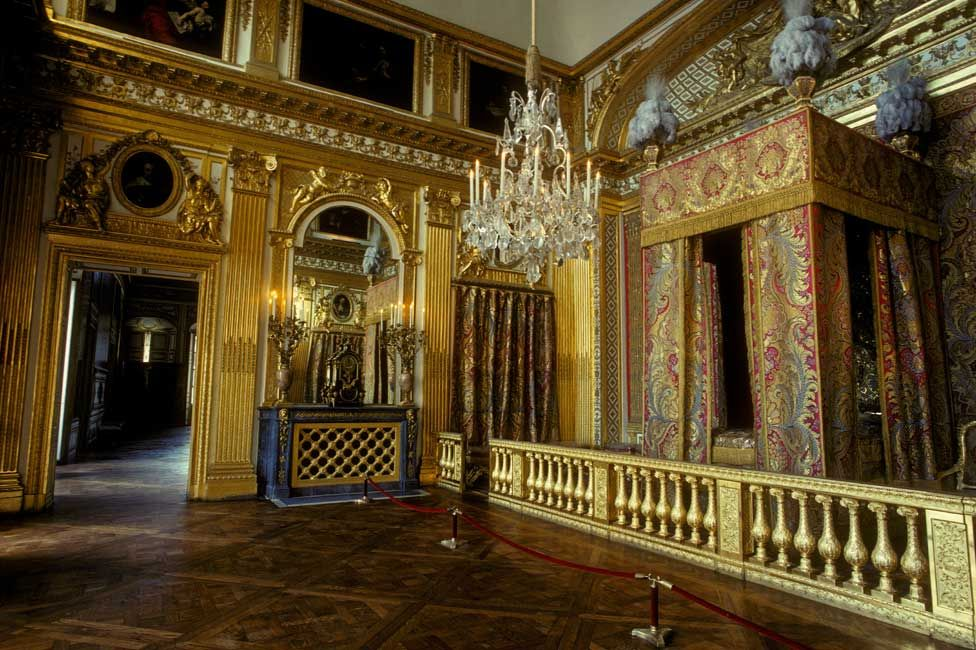 Louis XIV's bedroom at the Palace of Versailles