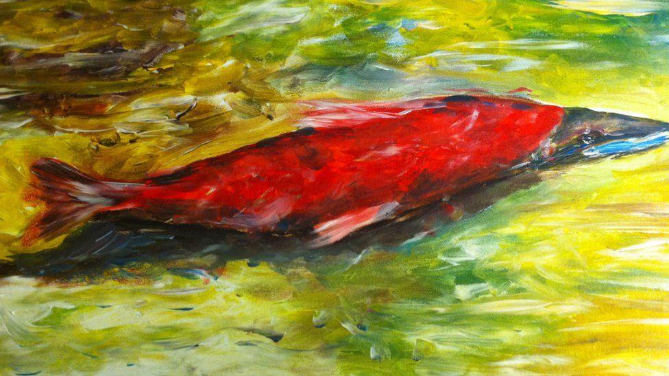 Salmon, gan Geraldine Banes
