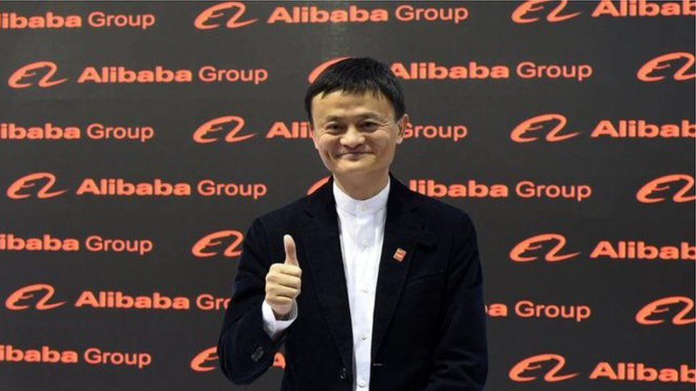 The founder of Alibaba Jack Ma