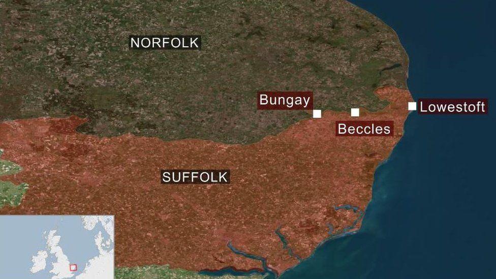 Norfolk-Suffolk border