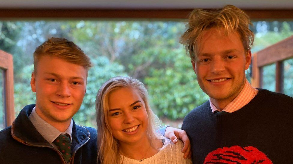 Ollie with his brother and sister, Henry and Eloise