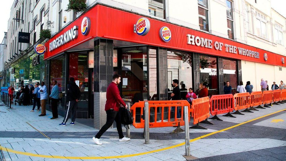 A Burger King outlet in Cardiff in June 2020