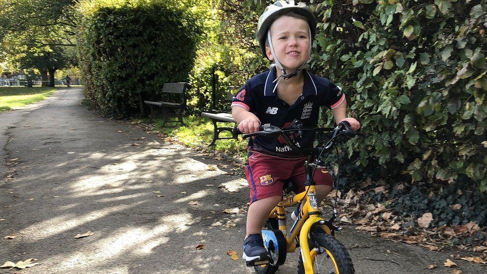 Sam on his bike