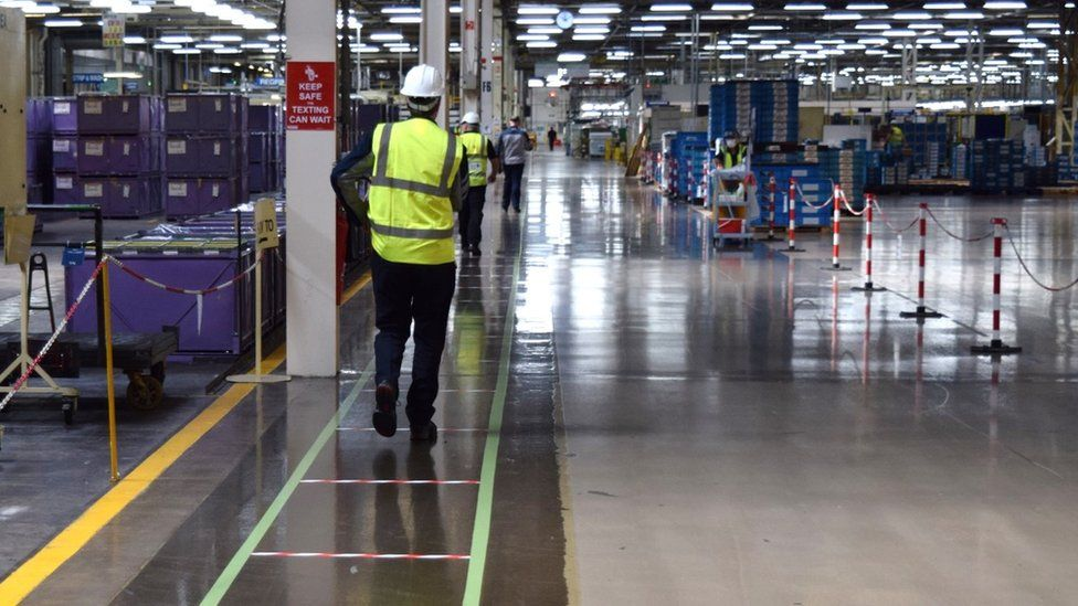Staff at Toyota's Deeside plant