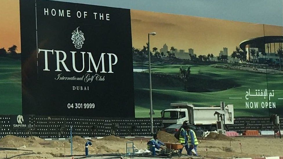Trump golf course in Dubai