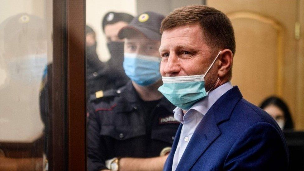 Sergei Furgal during a court hearing on Friday