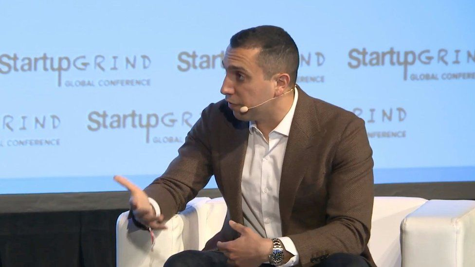 Sean Rad spoke at the Startup Grind Global conference in Redwood City, California