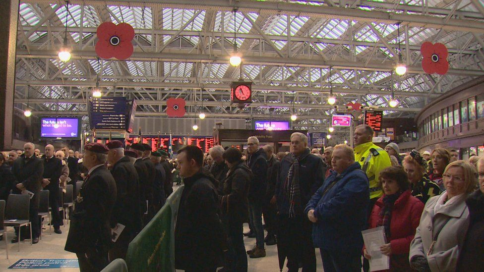 Glasgow Central Armistice Day