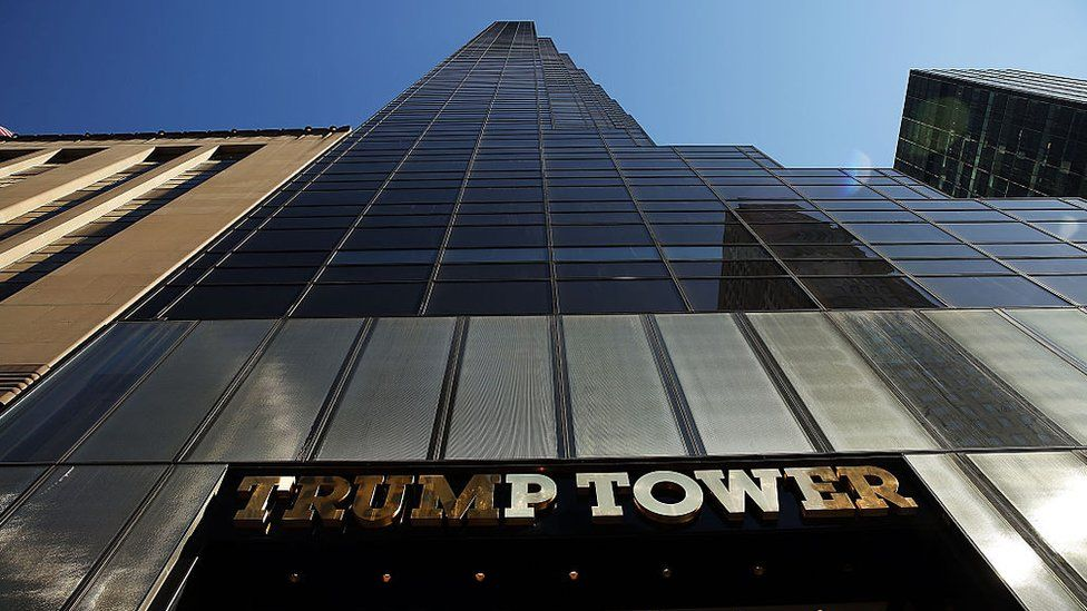 The Trump Tower in New York