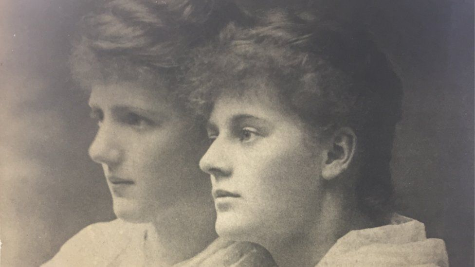 Constance (left) and her sister Eva