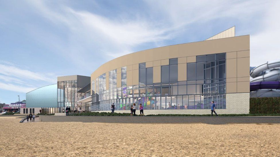 An artist's impression of what the new water and leisure complex will look like