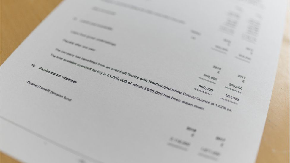 Companies House filing outlining the Northamptonshire County Council overdraft to LGSS Law