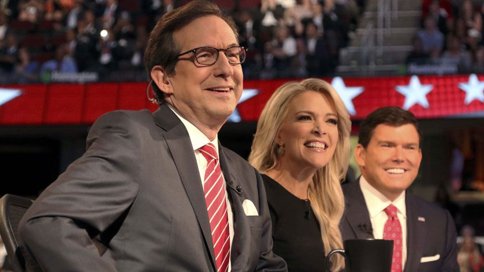 Chris Wallace, Megyn Kelly and Brett Baier,