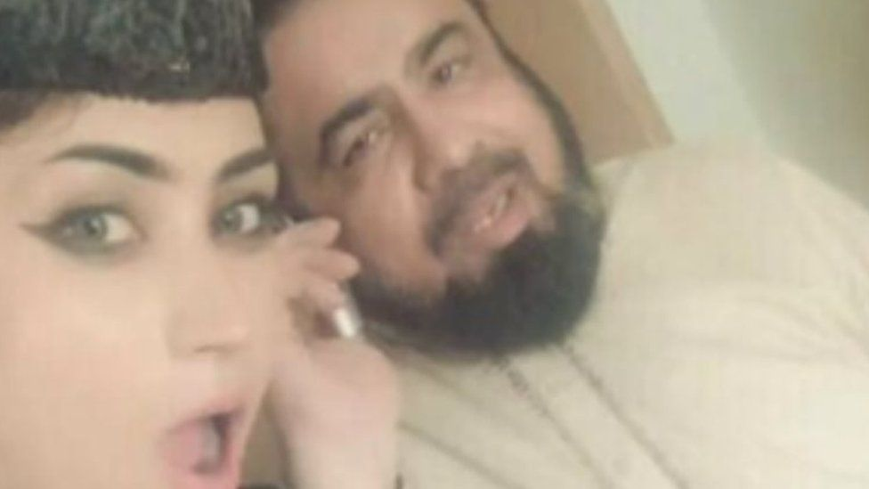 Ms Baloch in pictures alongside a Muslim cleric that appeared on social media
