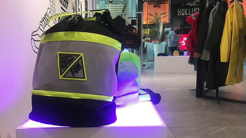 Fiorucci bag on display in shop