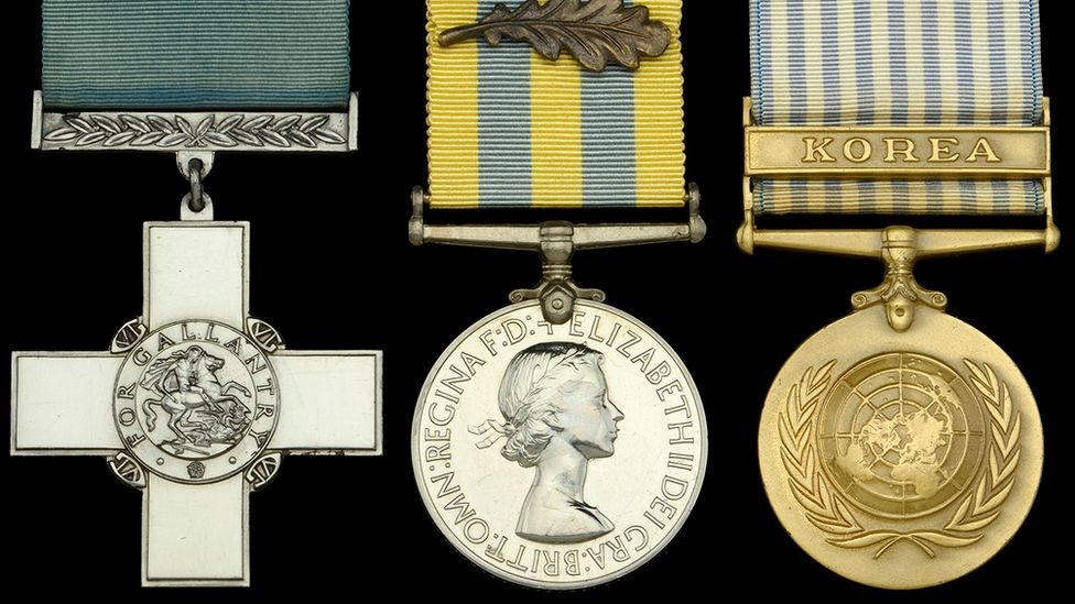Lt Terry Waters's medals
