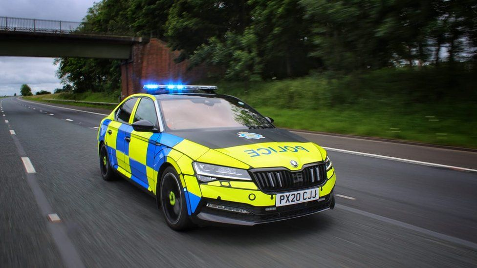 Library image of a Cumbria Police car