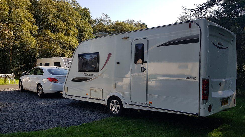 Caravan at site near Whitby