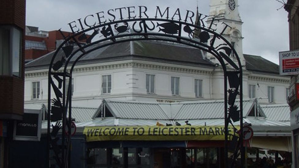 Entrance to Leicester market