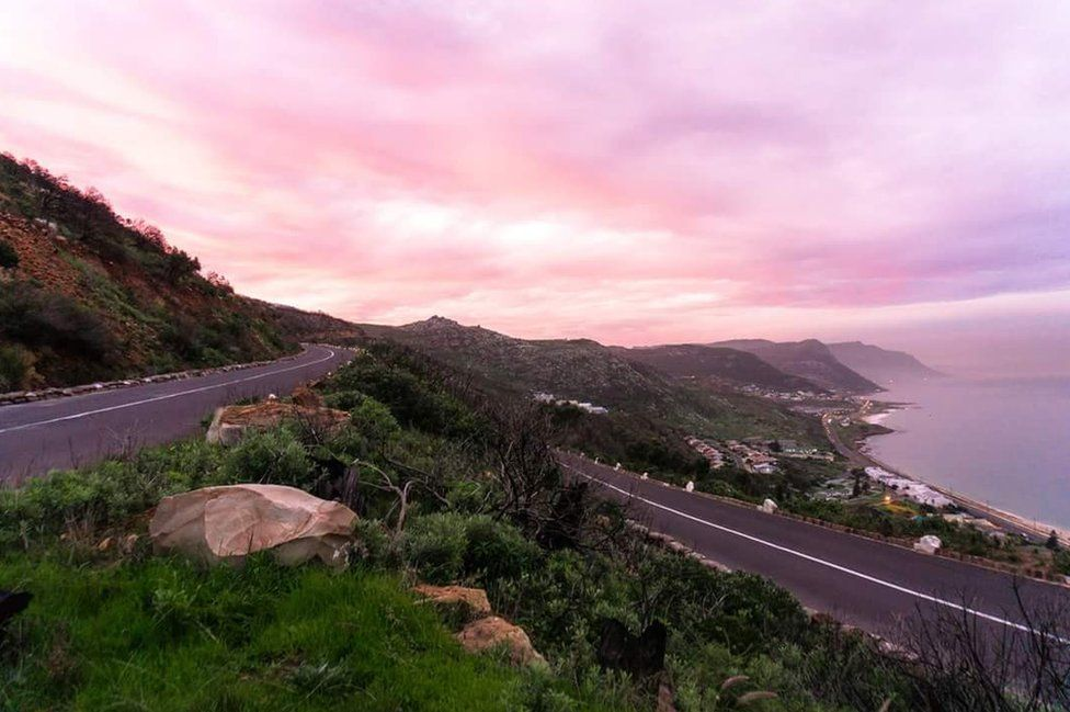A pink sky in South Africa