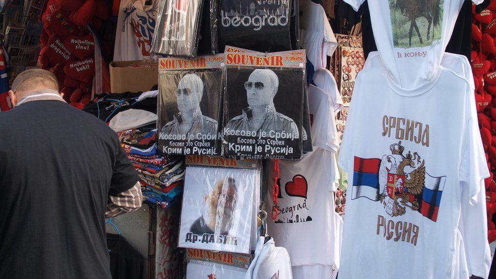 T-shirts on souvenir stall