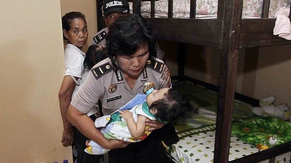 Indonesian police raiding orphanage near Jakarta over alleged abuse, 24 Feb 14