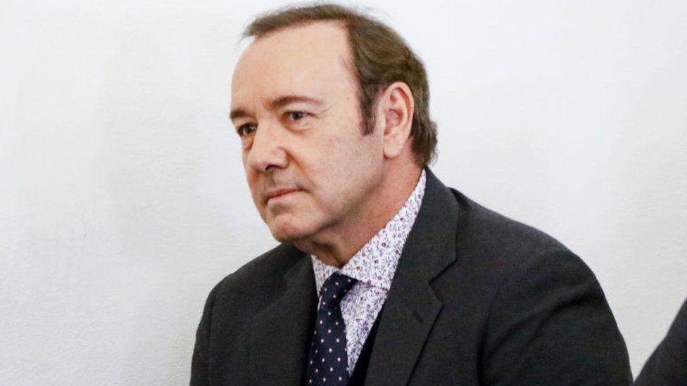 Kevin Spacey in court in January
