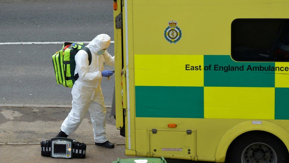 Stock image of paramedic in PPE