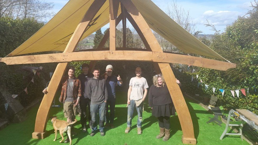 Team preparing pub for reopening
