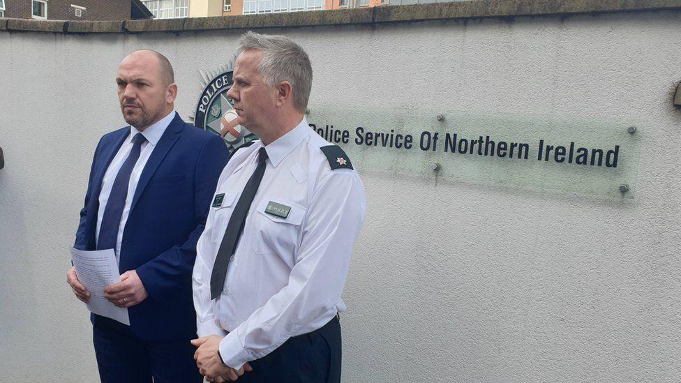 Detective Superintendent Jason Murphy and Chief Inspec Alan Hutton