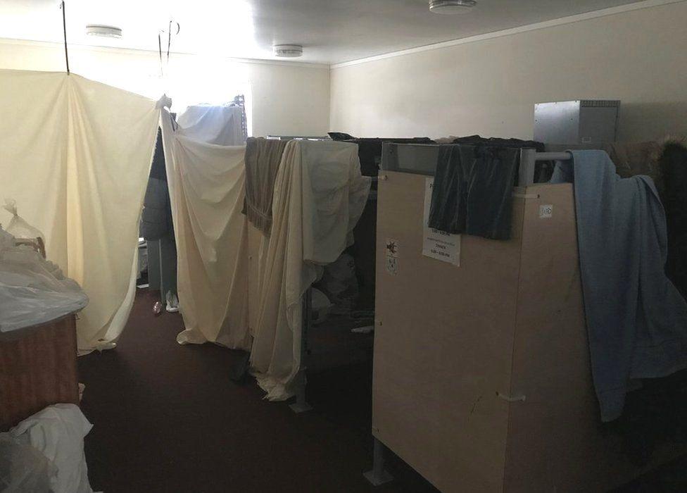 Living accommodation at Penally Camp